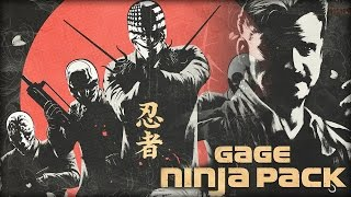 PAYDAY 2: Gage Ninja Pack - Gameplay (New Weapons/Masks)