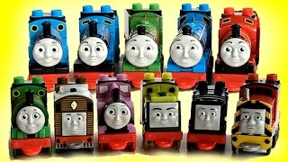 getlinkyoutube.com-11 Thomas Friends Mega Bloks Trains Thomas James Percy Gordon Henry Diesel Edward Toby Salty Rosie