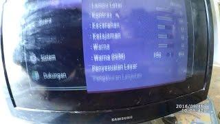 "getlinkyoutube.com-memperbaiki tv lcd 32"" gambar dobel #3 Samsung"