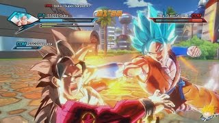 getlinkyoutube.com-Dragon Ball Xenoverse (PC) : SSGSS Goku & SSSG Vegeta Vs SSJ4 Goku & SSJ4 Vegeta【60FPS 1080P】