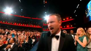 "getlinkyoutube.com-Aaron Paul wins an Emmy for ""Breaking Bad"" 2014"