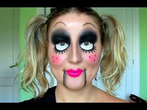 TUTORIAL: Maquillaje de HALLOWEEN!! MUÑECA DIABÓLICA / ventrilocuo