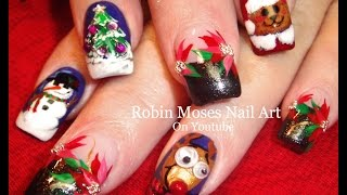 getlinkyoutube.com-5 Different Christmas Nail Art Designs | Fun Cute Xmas Nails Tutorial