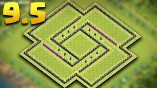 getlinkyoutube.com-Town Hall 9.5 Best Dark Elixir Farming Base | TH9.5 (TH10 No Infernos) Hybrid Base | Clash Of Clans