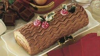 getlinkyoutube.com-Tronchetto al cioccolato,RICETTA di NATALE  DELICATO e SOFFICE