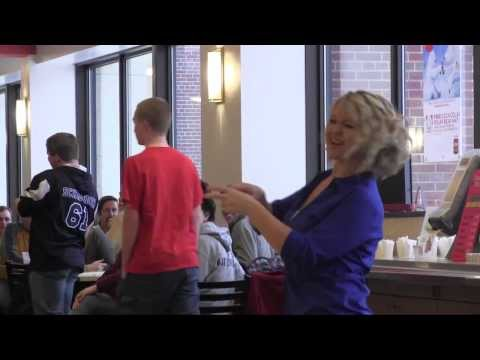 ASL students stage flash mob for deaf awareness