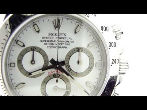 Rolex Daytona 116520 Cosmograph White Dial Video Review