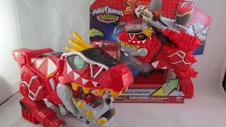 getlinkyoutube.com-T-Rex Super Charge Morpher Review & Comparison (Power Rangers Dino Super Charge)