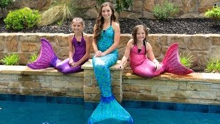 getlinkyoutube.com-Live Mermaids Swimming in Our Pool!