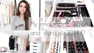 getlinkyoutube.com-My makeup collection & storage 2014 // 101ThingsGirlsLike
