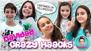 🎅 NAVIDAD en CASA de CRAZY HAACKS!!  VILLANCICO MINI YOUTUBERS