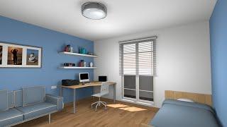 getlinkyoutube.com-Sweet home 3D tutorial: Design and render a  bedroom - Part 1