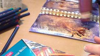 getlinkyoutube.com-Watercolor Pencils and Inktense Art Journal Background
