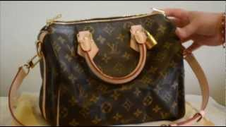 getlinkyoutube.com-Louis Vuitton Speedy Bandouliere 25 (with shoulder strap) review & what fits