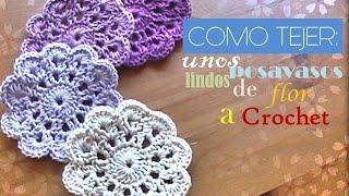 getlinkyoutube.com-COMO TEJER unos lindos POSAVASOS de flor a crochet (diestro)