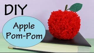 getlinkyoutube.com-DIY Apple Pom-Pom | Autumn/Fall Room Decor