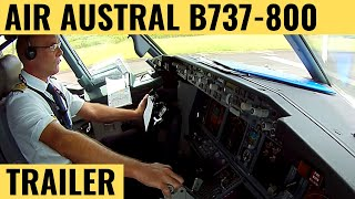 getlinkyoutube.com-Air Austral B737-800 - Cockpit Video - Flightdeck Action - Flights In The Cockpit