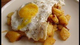 getlinkyoutube.com-Yumurtalı patates kızartması - alman tarifi - kahvaltı tarifi - sebze yemeği - CANANS REZEPTE