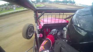getlinkyoutube.com-Shane Cockrum Qualifying @ 2014 Indiana Sprint Week Terre Haute USAC Non Wing In car camera