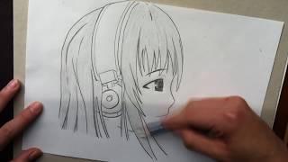 getlinkyoutube.com-Como dibujar Manga #3 - Cara vista de perfil