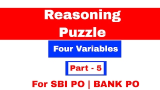 Four Variable Puzzle for SBI PO   Bank PO Part 6