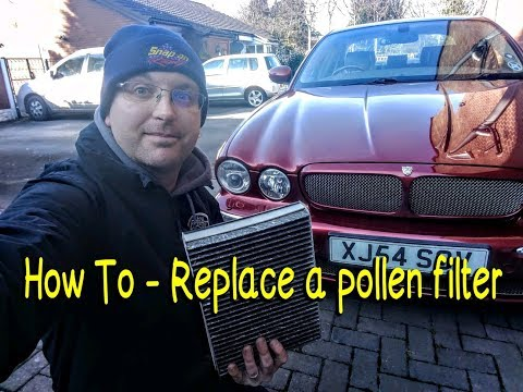 How To -- Replace a pollen/cabin filter on a Jaguar XJ (X350)