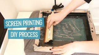 How to screen print t-shirts at home (DIY method)   CharliMarieTV