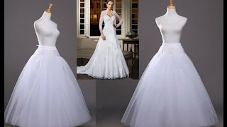 HOW TO CUT AND STITCH A  PETTICOAT / INNER SKIRT / CRINOLINE STEP BY STEP - DIY