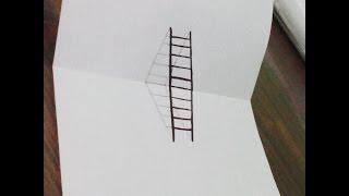 getlinkyoutube.com-تعليم رسم سلم 3D | ثلاثي الأبعاد - إسلام أسامه