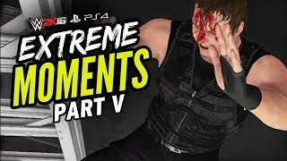 getlinkyoutube.com-WWE 2K16 EXTREME MOMENTS! V