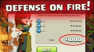 "getlinkyoutube.com-Clash of Clans: ""HOT STREAK BASE!"" CAN WE GET CHAMPION ON DEFENSE?"