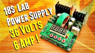 getlinkyoutube.com-Variable Lab Bench Power Supply Module At $18 | B3606 6A
