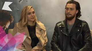 getlinkyoutube.com-Aaron Taylor-Johnson & Elizabeth Olsen interview | Avengers: Age of Ultron