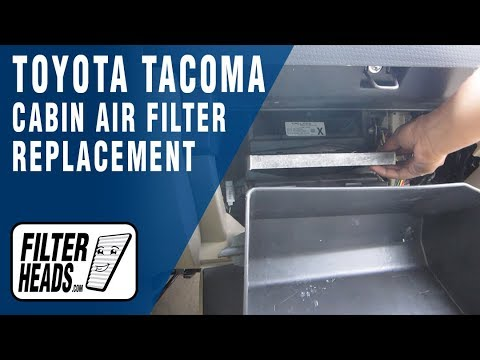 How to Replace Cabin Air Filter Toyota Tacoma