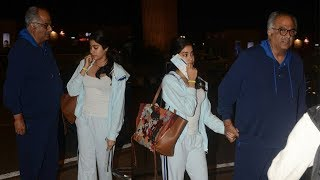 After Sridevi's Death, Boney Kapoor Comes To Drop Sad Jhanvi Kapoor At Airport