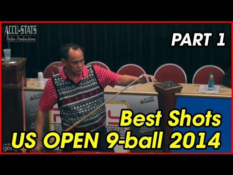 US Open 9-ball 2014 Best Shots | part 1