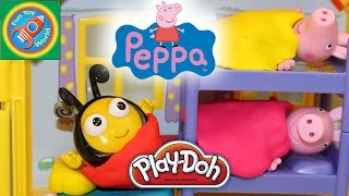 getlinkyoutube.com-Peppa Pig Sleepover Slumber Party with Buzzbee from The Hive and Play Doh Fun
