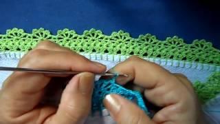 getlinkyoutube.com-Bico em croche - PARA CANHOTA