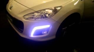Iluminação diurna led no Peugeot 308 (DEZZOT SOM)