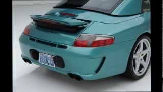 getlinkyoutube.com-Porsche GT3TEK GT3RS rear bumper fit 996 1999-2004 POLYURETHANE custom installation