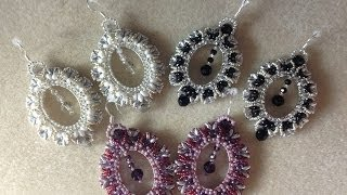 getlinkyoutube.com-(Tutorial) Crystal Portrait Earrings (Video 9)