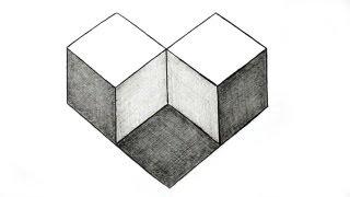 getlinkyoutube.com-How to Draw Simple Geometry Shape Optical Illusion