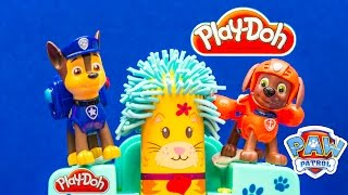 PAW PATROL Nickelodeon Play Doh Paw Patrol Fuzzy Pet Salon Toys Video parody