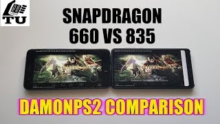 Snapdragon 835 vs 660 Comparison DamonPS2 Pro Emulator/PS2 Games/Xiaomi Mi Note 3 vs Mi Mix 2