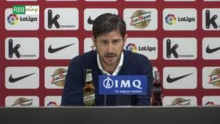 Rueda de prensa de Víctor Sánchez del Amo tras el partido contra el Athletic Club