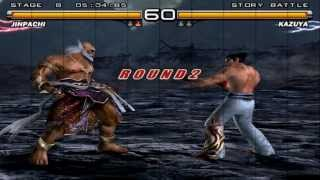 getlinkyoutube.com-Tekken 5 - Jinpachi Human Story Mode - PCSX2 PS2 Emulator