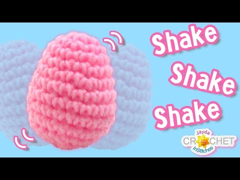 Egg Shaped Baby Rattle Music Shaker - Crochet DIY