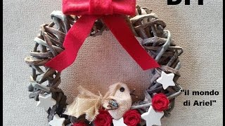 getlinkyoutube.com-DIY GHIRLANDA NATALIZIA CON FOGLI DI GIORNALE,riciclo quotidiani,Christmas wreath