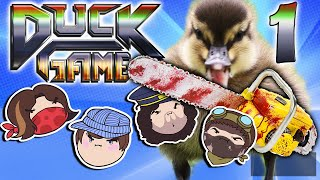 getlinkyoutube.com-Duck Game: Quack Attacking! - PART 1 - Steam Rolled