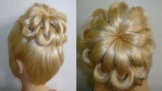 getlinkyoutube.com-Einfache Frisuren:Hochsteckfrisur.Flechtfrisuren.Zopffrisur.Donut Hair Bun Updo Hairstyles.Peinados